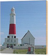 Portland Bill Lighthouse Wood Print
