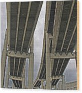 Portland Bridges 001 Wood Print