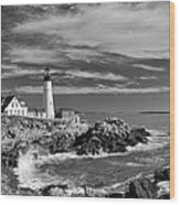 Portland Head Light 19456b Wood Print