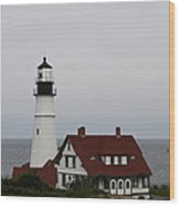 Portland Head Light I Wood Print