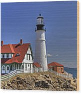 Portland Head Light Wood Print by Joann Vitali