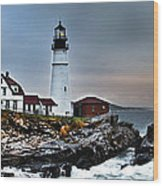 Portland Head Lighthouse 1 Wood Print