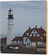 Portland Head Lighthouse 8529 Wood Print