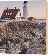 Portland Head Lighthouse Cape Elizabeth Maine Wood Print