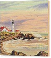 Portland Head Lighthouse Maine Wood Print