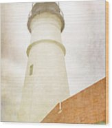Portland Head Lighthouse Maine Wood Print by Carol Leigh