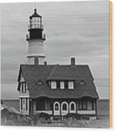 Portland Headlight 14221 Wood Print
