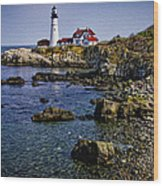 Portland Headlight 37 Oil Wood Print