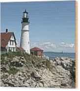 Portland Headlight Lighthouse 1 Wood Print