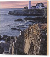 Portland Headlight Maine Wood Print