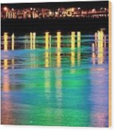Portland Lights 22971 F Wood Print