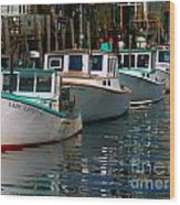 Portland Lobster Row Wood Print