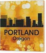 Portland Or 3 Wood Print