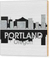 Portland Or 4 Wood Print
