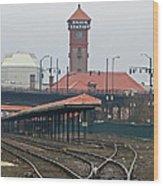 Portland Oregon Union Station Train Station Wood Print
