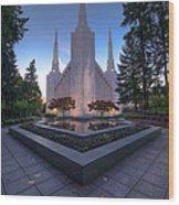 Portland Temple Wood Print