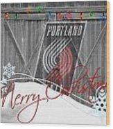 Portland Trailblazers Wood Print by Joe Hamilton