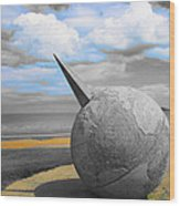 Portmanuck Sphere Ireland Wood Print by Jo Collins
