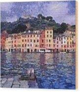 Portofino In Italy Wood Print