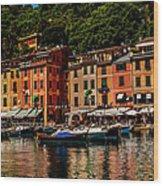 Portofino Italy Wood Print by Xavier Cardell