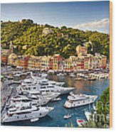 Portofino Summer Afternoon Wood Print by George Oze
