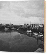 Portpatrick Harbour Scotland Uk Wood Print by Joe Fox