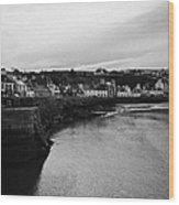 Portpatrick Village And Breakwater Scotland Uk Wood Print