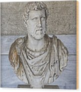 Portrait Bust Of The Emperor Antoninus Plus Wood Print by Radoslav Nedelchev
