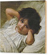 Portrait De Marie-louise  Wood Print