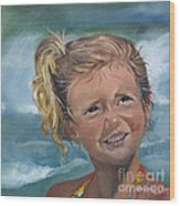 Portrait - Emma - Beach Wood Print