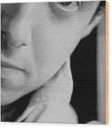 Portrait Figurative Study Piece Of Bobby  Wood Print