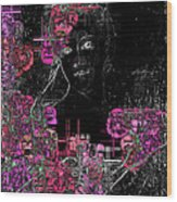 Portrait In Black - S01-02b Wood Print by Variance Collections