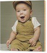 Portrait Of A Baby Boy Wood Print