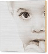 Portrait Of A Baby Wood Print