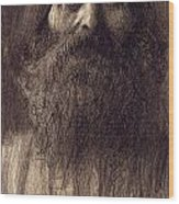 Portrait Of A Bearded Man Wood Print