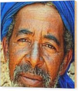 Portrait Of A Berber Man  Wood Print