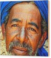 Portrait Of A Berber Man  Wood Print by Ralph A  Ledergerber-Photography