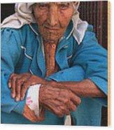 Portrait Of A Berber Woman Wood Print
