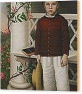 Portrait Of A Boy Wood Print by James B Read