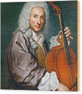 Portrait Of A Cellist Wood Print