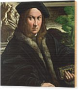 Portrait Of A Collector Wood Print