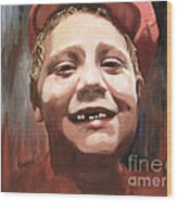 Portrait Of A Con Artist Wood Print by Sharon Burger