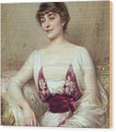 Portrait Of A Countess Wood Print