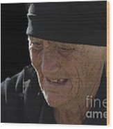 Portrait Of A Fishermans Wife Wood Print