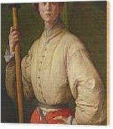 Portrait Of A Halberdier Wood Print