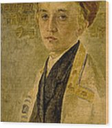Portrait Of A Jewish Boy  Wood Print