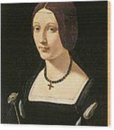 Portrait Of A Lady As Saint Lucy Wood Print