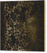 Portrait Of A Leopardess  Wood Print