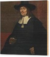 Portrait Of A Man In A Tall Hat Wood Print