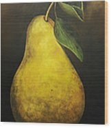 Portrait Of A Pear Wood Print